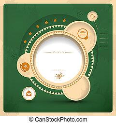 Vector vitage web design