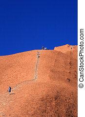 Climbing Ayres Rock - Uluru, Ayres Rock, Australia