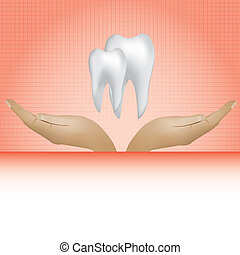 Abstract medical dental background