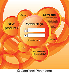 Modern web card form - Modern web card login form