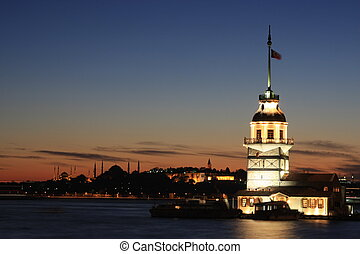Maidens Tower - Istanbul Maiden Tower from the east in...