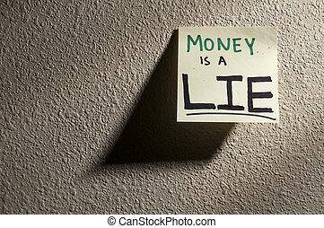 Money is a lie