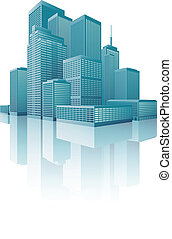 Skyscrapers Cityscape - Vector illustration of cityscape...