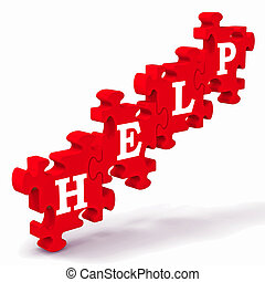 Help Puzzle Shows Support And Advisory - Help Puzzle Shows...