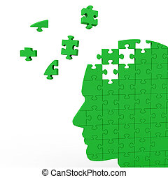Head Puzzle Showing Human Intelligence