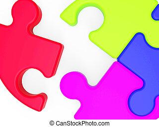 Unfinished Puzzle Shows Last Pieces