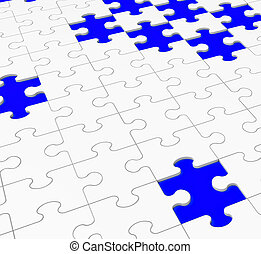 Unfinished Puzzle Showing Assembling And Completing -...