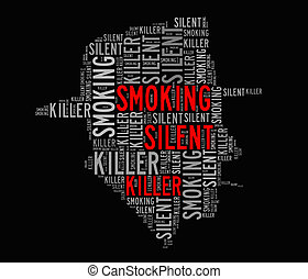 Smoking is silent killer info-text graphics and arrangement...
