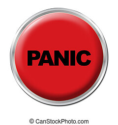 Panic Button - Red round button with the word Panic