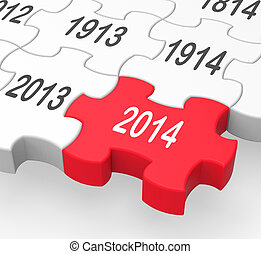 2014 Puzzle Piece Shows New Year's Resolutions And...