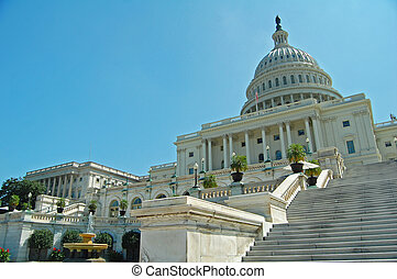 Capitol Building Washington DC - view of the west front of...
