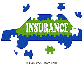 Car Insurance Shows Protection Against Accident - Car...