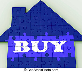 Buy House Shows Investment In Residential Home