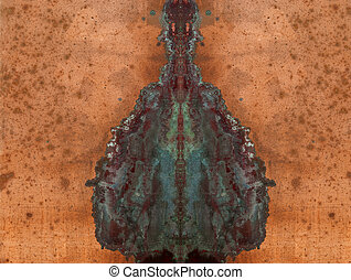 copper plate with patina