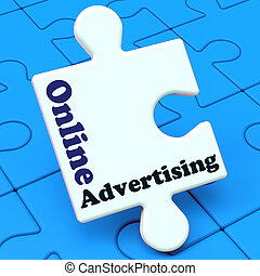 Online Advertising Shows Website Promotions Adverts - Online...