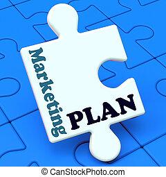Marketing Plan Shows Development Planning Strategy
