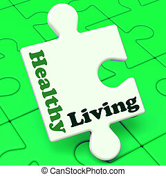 Healthy Living Shows Fitness And Nutrition Lifestyle -...