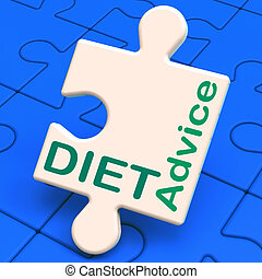 Diet Advice Shows Slimming Information And Recommendations -...