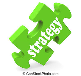 Strategy Showing Business Solutions Or Goals