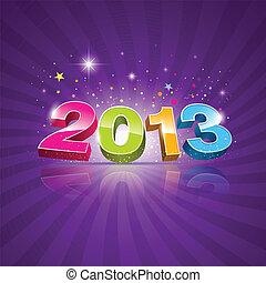 2013, message, coloré, fond