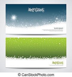 Abstract Merry Christmas snowflake