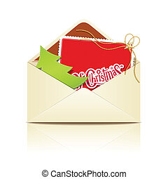 Envelope letter merry christmas