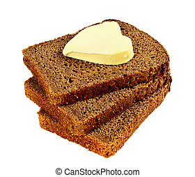 heart of the butter on the bread