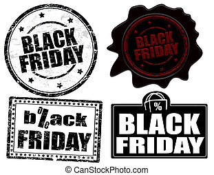Black friday stamps and label - Set of stamps and labels...