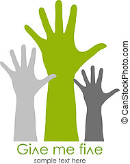 Give me five symbol, vector illustration