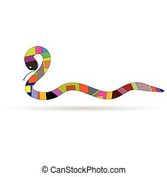 new 2013 year with snake vector illustration