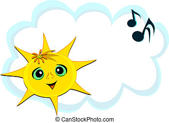 Sweet Sun with Musical Notes