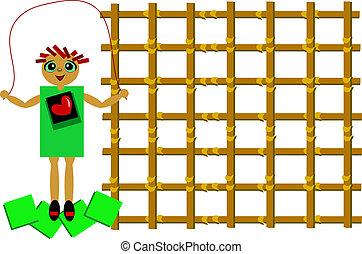 Cute Girl Jumping Rope