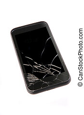 mobile phone with the broken display - old mobile phone with...