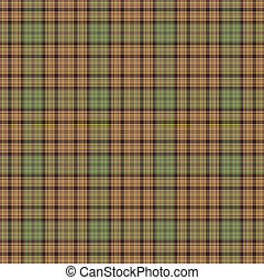 Seamless Warm Plaid - Seamless plaid pattern in earth tone...