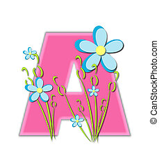 Alphabet Blooms in Spring A