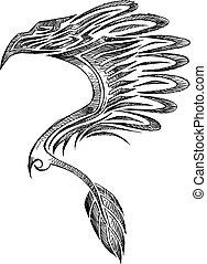 Sketch Doodle Eagle Tattoo
