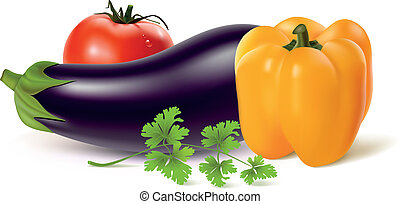 Fresh vegetables - Vector illustration of vegetables
