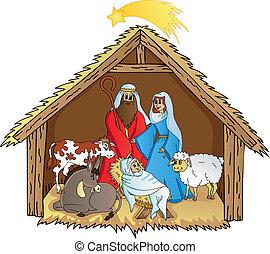 Bethlehem on white background 02 - vector illustration.