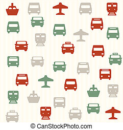 Transport seamless pattern 2