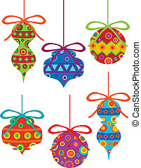 Christmas Ornaments with Tribal Motifs - Christmas Tree...