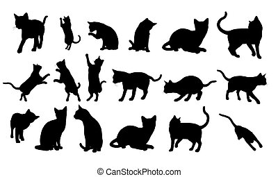 Silhouette Cat - Illustration silhouette of cat