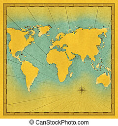 Map of the world illustration - illustration, world,...