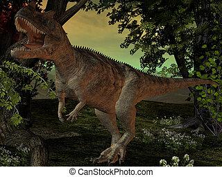 Ceratosaurus - 3D Render of an Ceratosaurus nasicornis
