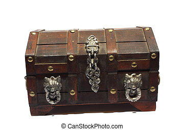 Treasure Box - Isolated treasure box that can hold jewelry,...