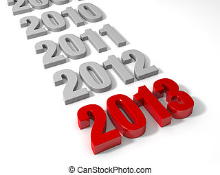 2013 is Here - 2013 in shiny Red Letters followed by the...