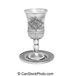 Steel jewish cup isolated - Steel jewish cup for a meeting...