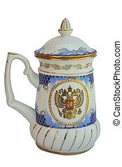 pub mug - The pub mug, mural to gzhel style Russia
