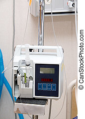 IV Pump - An automatic IV pump in a hospital