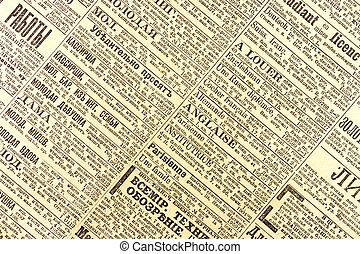 Old newspaper - Old russian newspaper with information from...