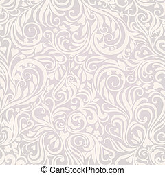 Seamless floral lightgrey background - Decorative seamless...